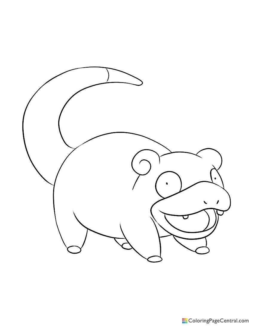 Pokemon - Slowpoke 02 Coloring Page