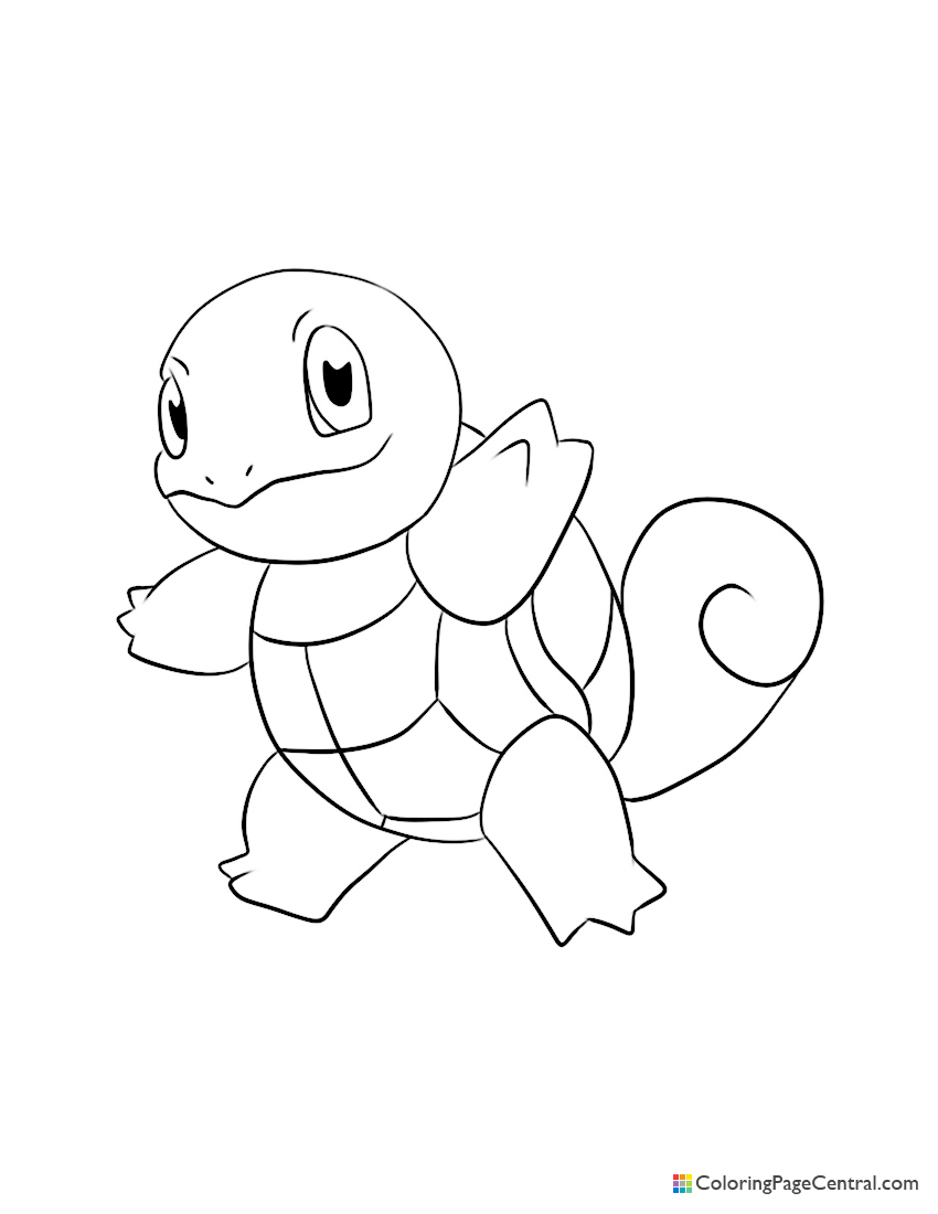 Pokemon - Squirtle Coloring Page