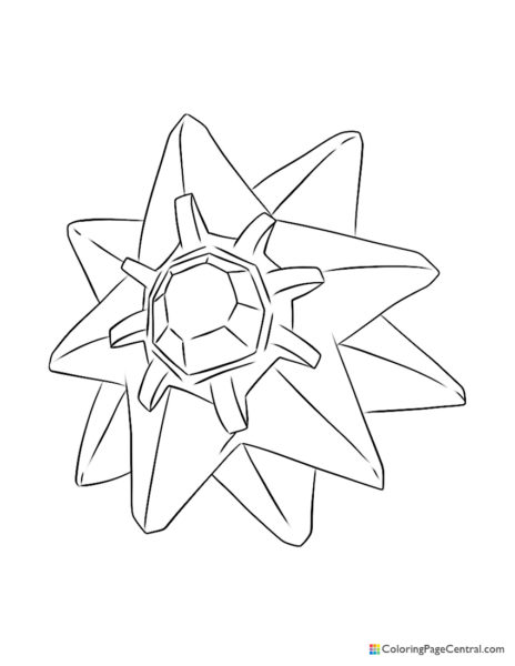 Pokemon – Starmie Coloring Page