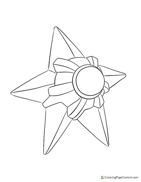 Pokemon – Staryu Coloring Page