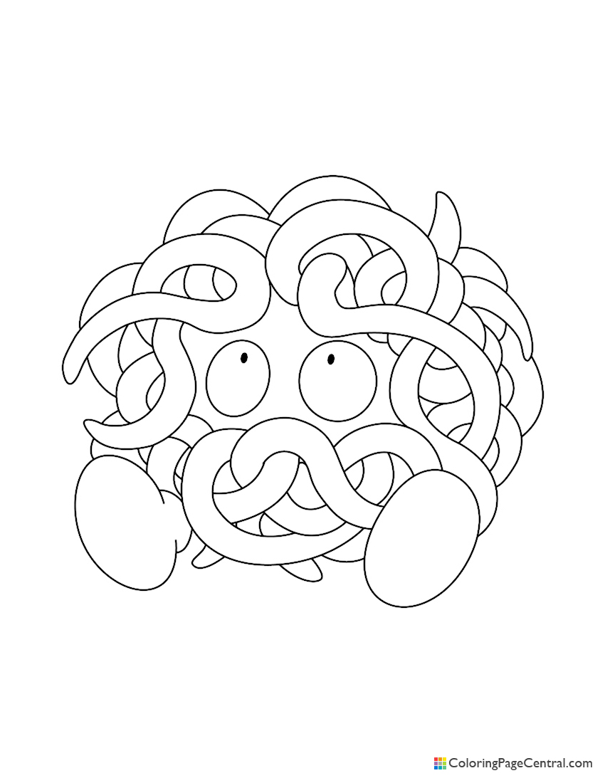 Pokemon - Tangela 02 Coloring Page