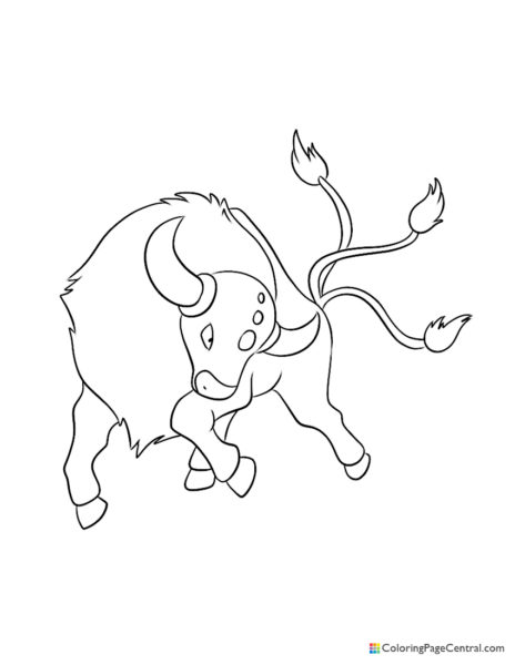 Pokemon - Tauros Coloring Page