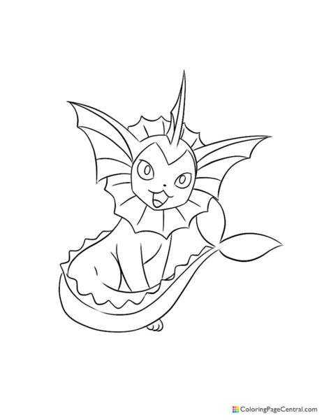 Pokemon – Vaporeon Coloring Page