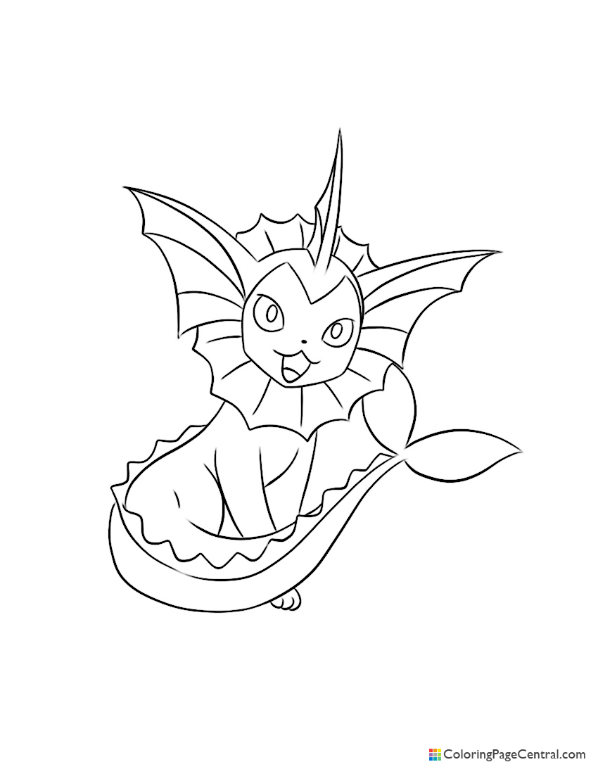 Pokemon - Vaporeon Coloring Page