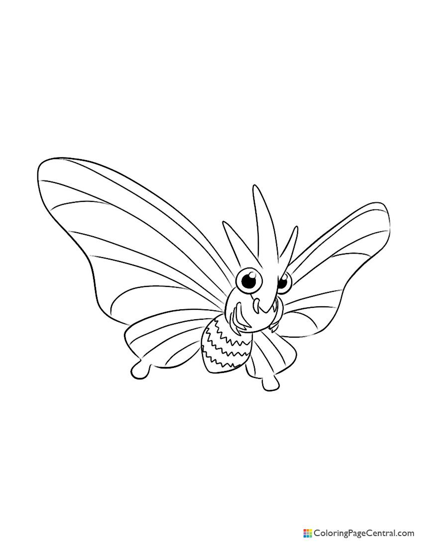 Pokemon - Venomoth Coloring Page