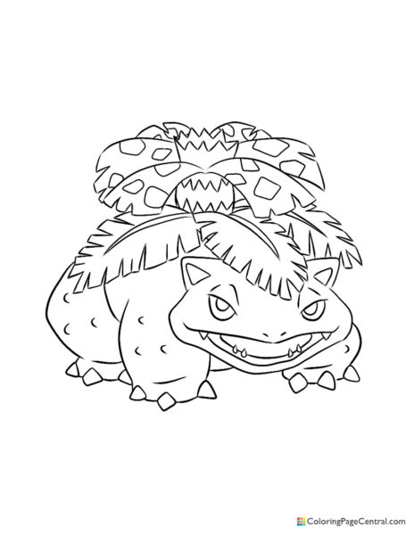 Pokemon – Venusaur Coloring Page