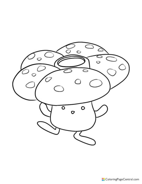 Pokemon – Vileplume Coloring Page