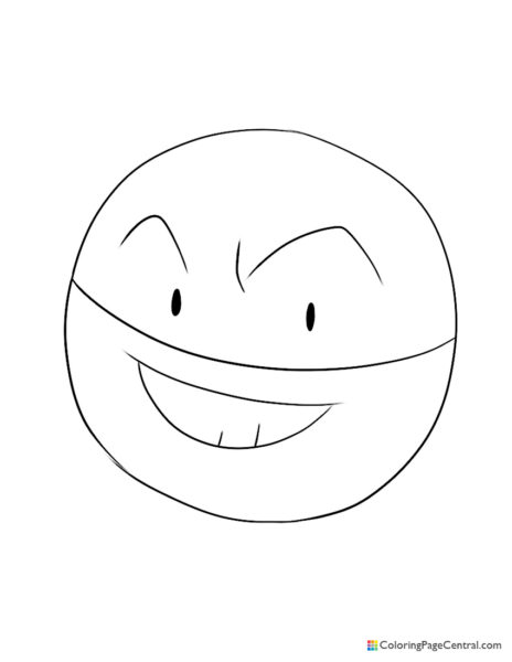 Pokemon – Voltorb Coloring Page