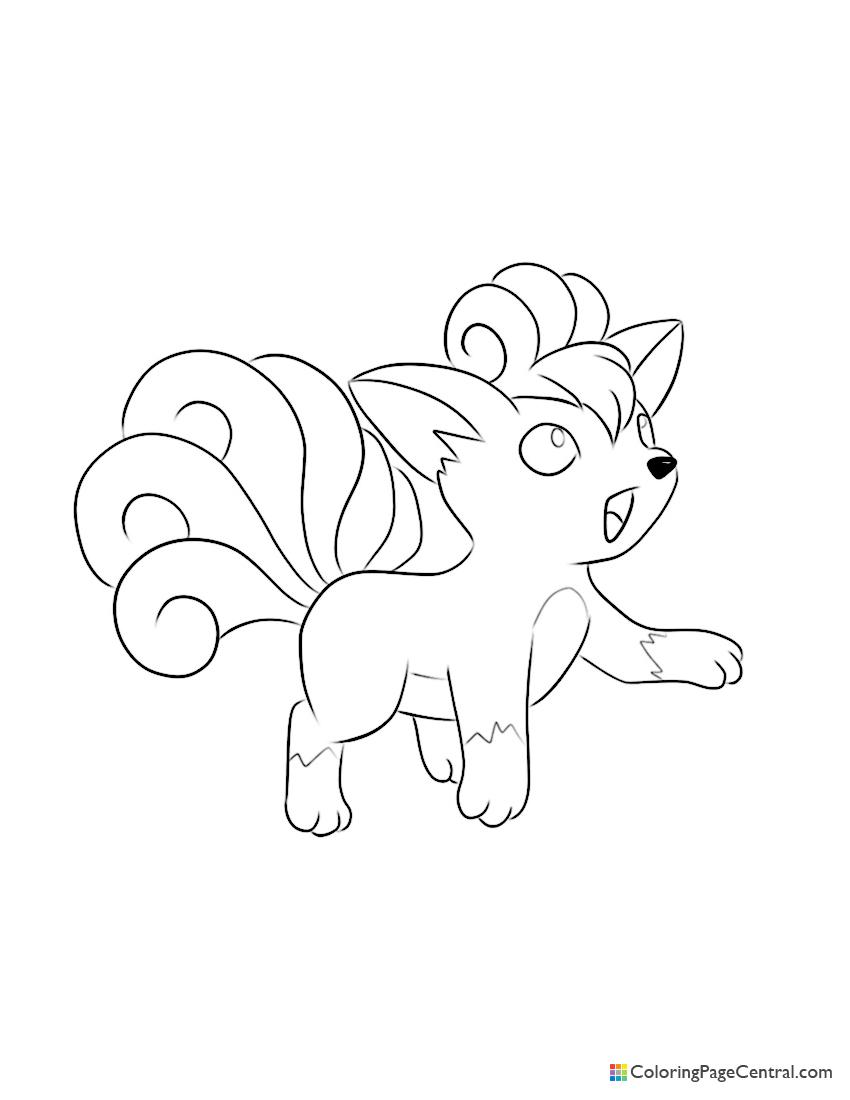Pokemon - Vulpix Coloring Page
