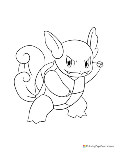 Pokemon – Wartortle Coloring Page