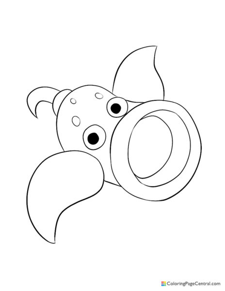 Pokemon – Weepinbell Coloring Page