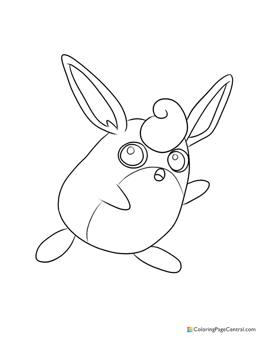 Pokemon - Wigglytuff Coloring Page