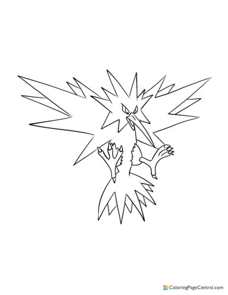 Pokemon – Zapdos Coloring Page