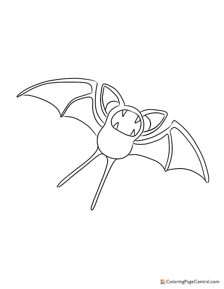 Pokemon - Zubat Coloring Page